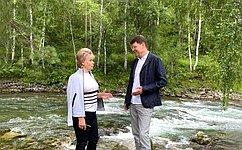 Т. Гигель входе поездки вРеспублику Алтай обсудила вопросы развития туристического бизнеса врегионе