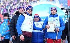 В.Харлов принял участие в«Лыжне России-2018»