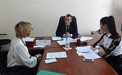 Н. Власенко провел прием поличным вопросам вКалининграде