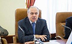 Вице-спикер СФ И. Умаханов обсудил скипрским парламентарием Н. Пападопулосом ситуацию наУкраине иряд других вопросов