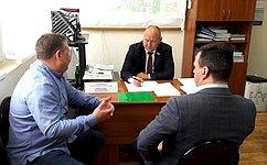 А. Кондратенко провёл приём граждан врегионе