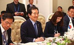 Состоялась встреча Председателя СФ сПредседателем Национального собрания Республики Корея