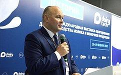 А. Кондратенко выступил наоткрытии 19-й Международной выставки оборудования для производства молока имолочной продукции