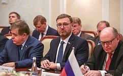 Содержание вопросов, обсуждавшихся входе визита вУзбекистан, далеко выходит зарамки собственно межпарламентского диалога— К.Косачев