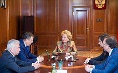 Председатель СФ иисполняющий обязанности губернатора Ленинградской области обсудили инвестиционное развитие региона