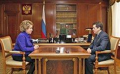 Глава СФ иМэр Казани обсудили вопросы социально-экономического развития столицы Татарстана