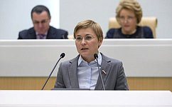 Л. Бокова проинформировала сенаторов оработе вкачестве представителя СФ вОбщественной палате