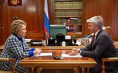 В.Матвиенко: Развитие физкультуры испорта— один изглавных государственных приоритетов