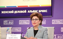 Г. Карелова: Женский альянс БРИКС способствует повышению участия женщин вэкономике стран «пятерки»