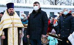 Д. Василенко: Строительство храма вКировском районе стало данью памяти солдатам, которые отдали жизнь заОтечество