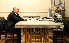 Глава Правительства РФ иПредседатель СФ обсудили бюджет на2021год