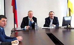 В. Наговицын встретился сдепутатами иглавами поселений Прибайкальского района
