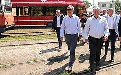 А. Яцкин: ВТаганроге реализуется важный для регионов пилотный проект помодернизации городского транспорта