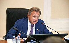 А. Пушков: Россия должна более активно действовать наинформационном поле