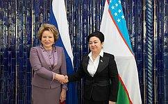 В. Матвиенко: Межрегиональное сотрудничество— перспективное направление вотношениях России иУзбекистана