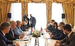 Председатель СФ В.Матвиенко провела встречу сПредседателем Национального Собрания Армении А.Мирзояном