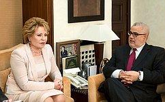 Спикер Совета Федерации иГлава Правительства Марокко обсудили развитие торгово-экономических отношений