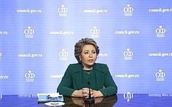 В. Матвиенко: Назаседании СФ мы оперативно рассмотрим законы оподдержке граждан иэкономики вусловиях борьбы скоронавирусом