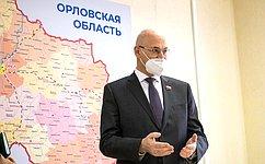 В. Круглыйвходе поездки вОрловскую область ознакомился сработой Центра управления регионом