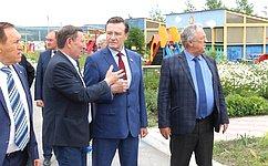 Входе рабочей поездки вУльяновскую область С.Рябухин посетил Новоспасский район