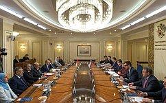 В.Матвиенко провела встречу сПредседателем Государственного совета Омана Я.Аль-Манзери