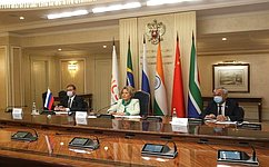 Valentina Matviyenko: Cooperation within BRICS is aperfect example ofsolidarity, mutual assistance andconstructive dialogue
