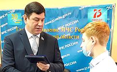 В. Смирнов вручил медаль СФ «Запроявленное мужество» ученику кадетского класса изг. Иваново