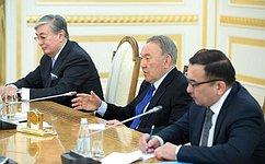 Председатель Совета Федерации В.Матвиенко встретилась сПрезидентом Республики Казахстан Н.Назарбаевым