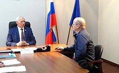 Н. Тихомиров провел прием граждан вВологде