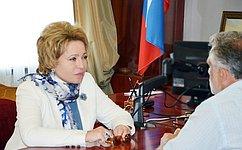 Председатель Совета Федерации провела рабочие встречи сгубернатором Севастополя ипредседателем Законодательного собрания города