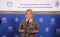Женщин-парламентариев МПС заинтересовал опыт России попредотвращению кибер-насилия вотношении женщин идетей— Л.Гумерова
