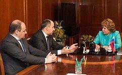 В. Матвиенко провела встречу сруководством Карачаево-Черкессии