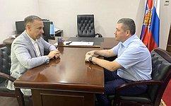 О. Алексеев обсудил сглавой Погрануправления ФСБ ситуацию нароссийско-казахстанской границе