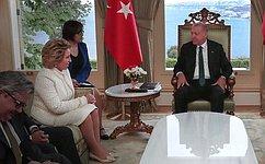 Состоялась встреча Председателя СФ В.Матвиенко иПрезидента Турецкой Республики Р.Т.Эрдогана