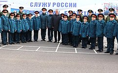 Ю. Воробьев поздравил кадет «Корабелы Прионежья» совступлением вроссийское кадетское братство