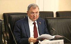 А. Артамонов провел заседание Комитета СФ побюджету ифинансовым рынкам