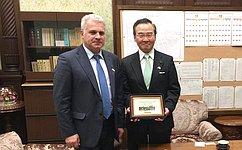 Глава Аппарата СФ С.Мартынов встретился сГенеральным секретарём Палаты советников Парламента Японии Т.Накамурой