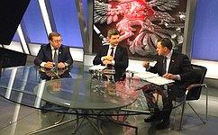 Виктор Новожилов нателеканале «Россия-24» обсудил вопросы продовольственной безопасности России
