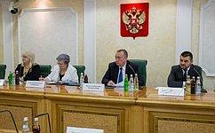 Комитет СФ поРегламенту иорганизации парламентской деятельности провел «круглый стол» повопросам исторической преемственности исовершенствования статуса сенаторов