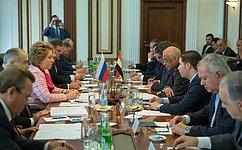 В.Матвиенко: Россия нацелена надальнейшее всестороннее развитие отношений сЕгиптом