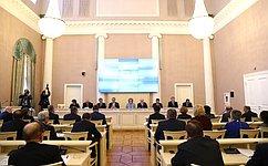 Делегация Совета Федерации воглаве сВ.Матвиенко принимает участие ввесенней сессии МПА СНГ вСанкт-Петербурге