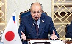 И. Умаханов: Совет Федерации выступает заактивное развитие межпарламентских имежрегиональных связей России иЯпонии