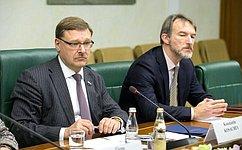 К. Косачев провел встречу сновым Послом Бразилии вРФ Антонио Луисом Эспинола Салгадо
