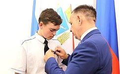 О. Алексеев: Самоотверженность исмелость юного героя помогли спасти жизнь человека