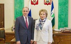 Спикер Совета Федерации обсудила сВРИО Главы Кабардино-Балкарии перспективы социального иэкономического развития Республики