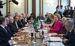 Расширение сотрудничества парламентариев России иБразилии будет способствовать укреплению всего комплекса отношений— В.Матвиенко