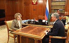 Эффективное взаимодействие палат парламента обеспечит высокое качество принимаемых законов— В.Матвиенко