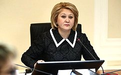 Л. Гумерова: Вопросы совершенствования законодательства всфере детства находятся вповестке дня Совета Федерации