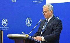 С. Мартынов входе 137-й Ассамблеи МПС выступил назаседании Ассоциации генеральных секретарей парламентов