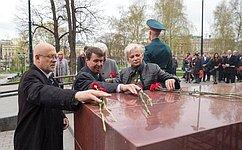 Сенаторы отКрыма иСевастополя приняли участие вмемориальной акции, посвященной Великой Победе